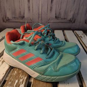 Adidas sneakers shoes girls youth kids green BA741